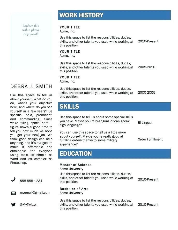 Resume Examples By Industry And Job Title Microsoft Word Resume Template Free Resume Template Download Resume Template Word