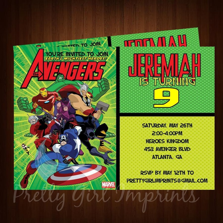 33 best images about Nikolais birthday – Hulk Party Invitations