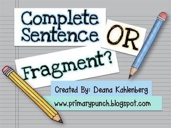 17 Best images about WRITE~COMPLETE SENTENCES on Pinterest ...