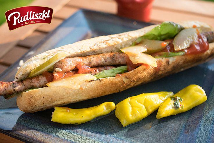 Hot dog z grilla  #hotdog #grill #pudliszki #przepis