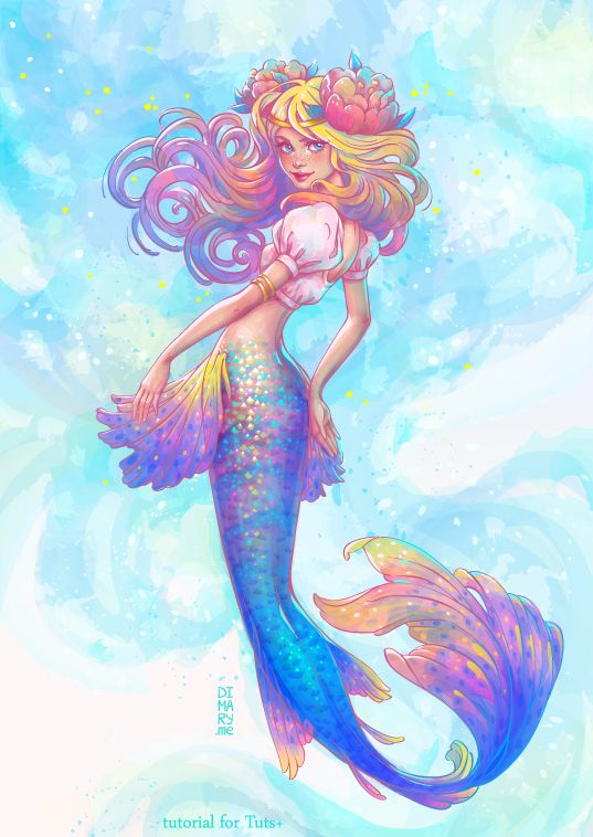 The Little Mermaid by dimary.deviantart.com on @DeviantArt - More at https://pinterest.com/supergirlsart #female #fantasy #art