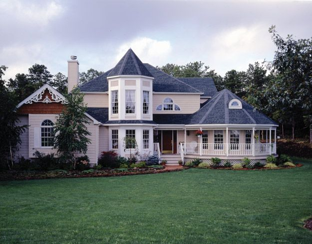 63 best victorian home plans images on pinterest for Victorian house plans with turrets