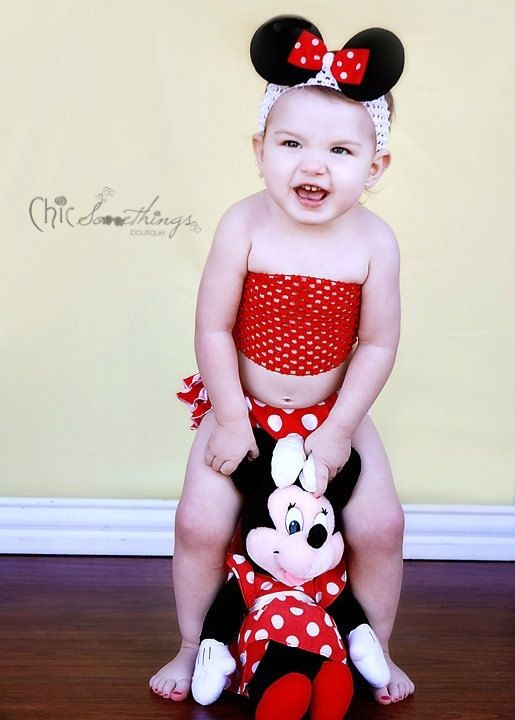 Minnie Mouse Ears Headband Baby Minnie mouse by ChicSomethings, $14.00