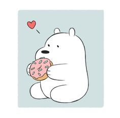 Image result for polar bear wagging tail cartoon
