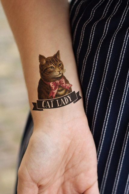 A temporary tatt for all the cat ladies.