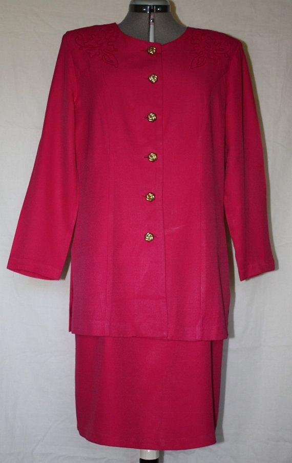 Vintage Hot Pink Maternity Dress by Stuart by ilovevintagestuff