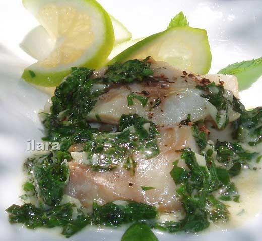 ФИЛЕ МОРСКОЙ РЫБЫ В ВИНЕ И ТРАВАХ Для любителей готовить на скорую руку: рыба получится сочной и нежной.  Продукты (на 6 порций): 6 ломтей филе белой морской рыбы…