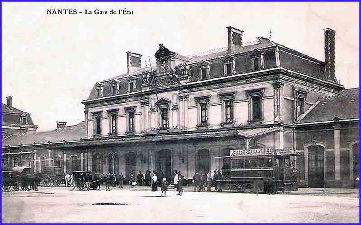 gare de l'etat à Nantes vers 1904