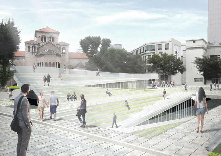 Winners Announced in Competition to Design Cultural Square in Seoul,Time Connector. Image Courtesy of Sejongdaero Competition