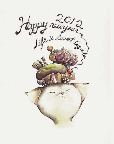 Life is sweet as a cupcake.. !!!!  Bistrebo' illustration for year 2012.  all rights reserved by Bistrebo.