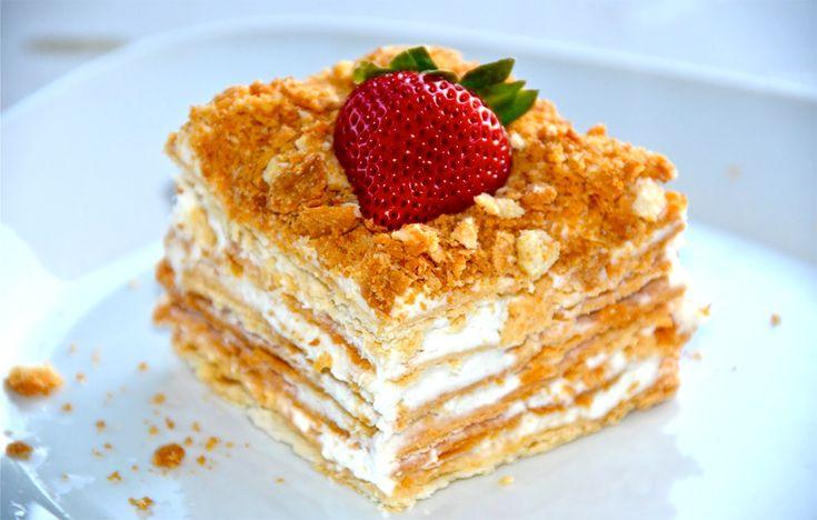 Торт Наполеон, классический.