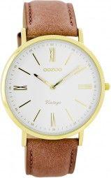 Oozoo Ultra Slim Vintage Uhr C7706 - dustypink/gold - 40 mm - Lederband