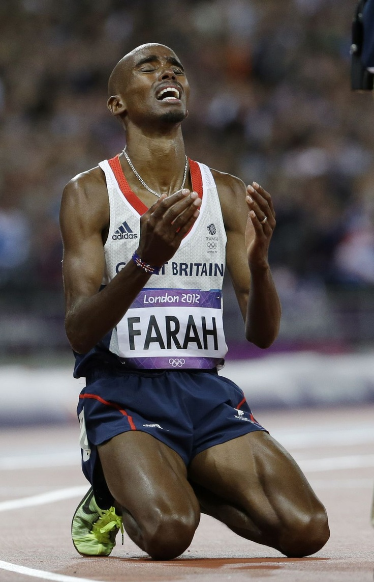 Mo Farah wins Gold for Team GB in the men's 10,000 meters.