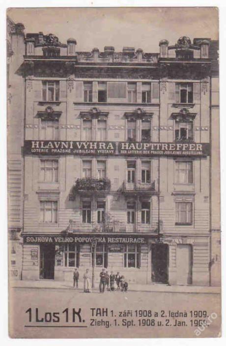 Praha restaurace Sojka 1908