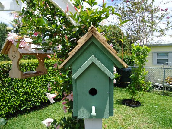 Best Handmade Bird House Built With Solid Cedar With Shake Roof 400 x 300