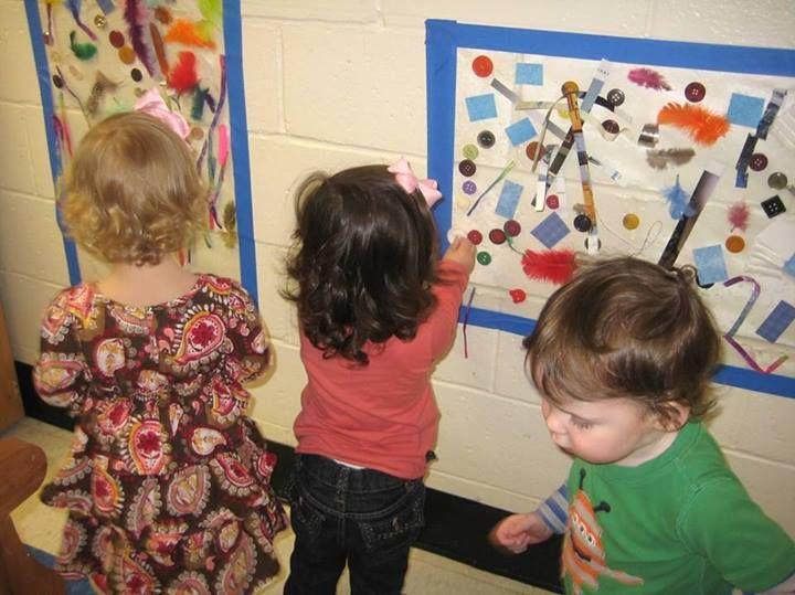 """Sticky wall canvas at Peachtree Presbyterian Preschool ("""",)"""