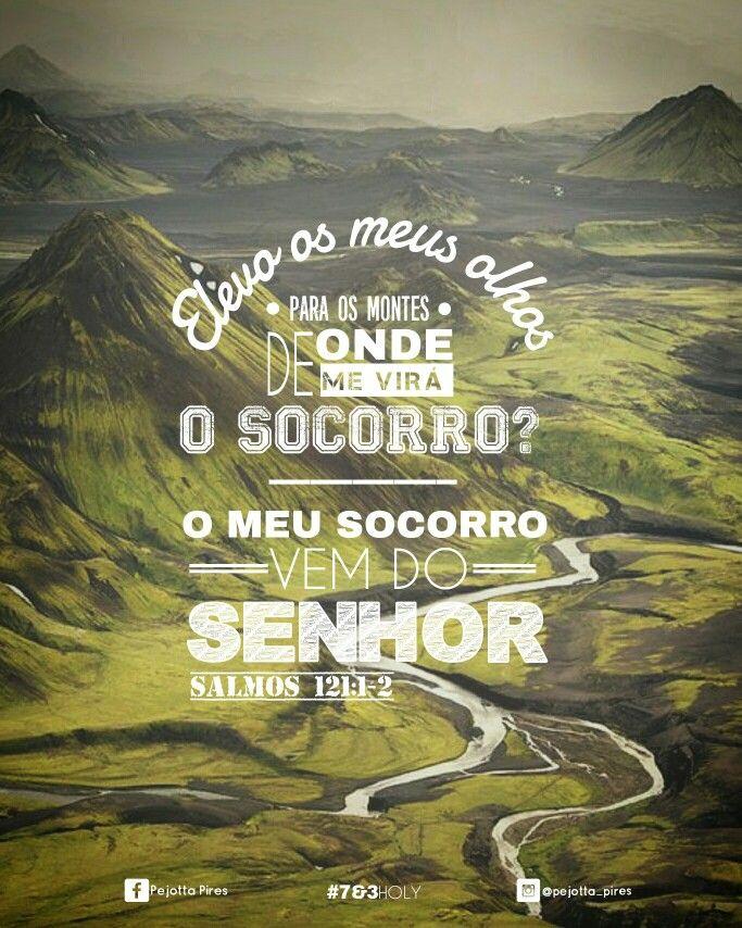 1. Elevo os meus olhos para os montes; de onde me vem o socorro? 2. O meu socorro vem do Senhor, que fez os céus e a terra. (Salmos, 121)