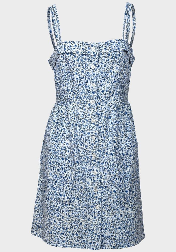 ♥ NEW Urban Outfitters Cooperative Blue Floral Print Sundress XS S M L RRP £48 ♥