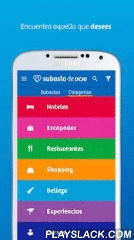 """Subasta De Ocio - Viajes Hotel  Android App - playslack.com ,  """"Planes a precios muy baratos"""". """"Chollos en ocio, cultura, viajes y mucho más"""". No son nuestras madres, son nuestros usuarios. Y es que Subasta de Ocio es la app de subastas más grande de España. Hoteles, viajes, restaurantes, escapadas y miles de planes al mejor precio. ¿Todos te dicen lo que tienes que hacer? ¡Aquí tú decides a dónde ir, qué hacer y cuánto pagar!*** Características ***• Más de 3000 subastas de viajes, hoteles y…"""