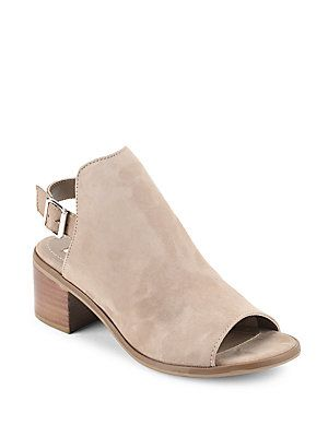 Steve Madden Pailey Suede Open Toe Booties