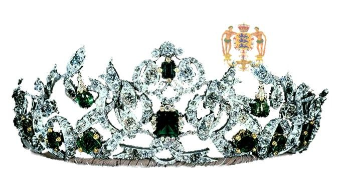 For the grand gala evening at the French Embassy, Queen Ingrid choose what was perhaps the most stunning of her parures, a magnificent and historical diamond and ruby parure, worn for the first time in 1804 at the Coronation of Emperor Napoleon I of the French, in Paris, by Désirée Clary, future Queen of Sweden, wife of Marshall Jean Baptiste Bernardotte, later King Carl XIV Johan of Sweden