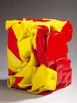 Compression jaune et rouge By César Baldaccini ,1989