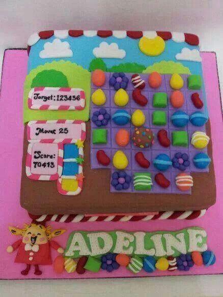 Candy crash saga cake