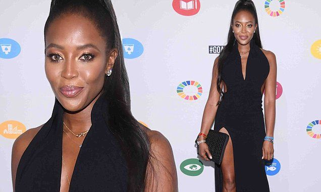 Naomi Campbell shows off model figure in low-cut dress | Daily Mail Online http://www.dailymail.co.uk/tvshowbiz/article-4901732/Naomi-Campbell-shows-model-figure-low-cut-dress.html