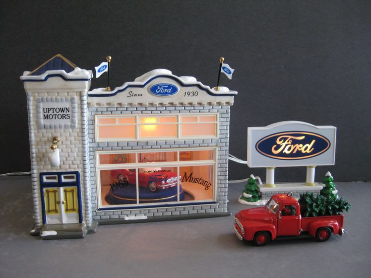 Ford Dealership Corpus Christi >> Uptown Motors Ford - VIDEO - Mustang + Pickup Dept 56 Snow ...
