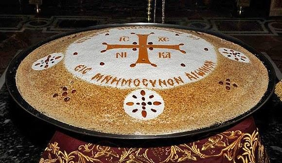 Kollyva made on the Holy Mountain.