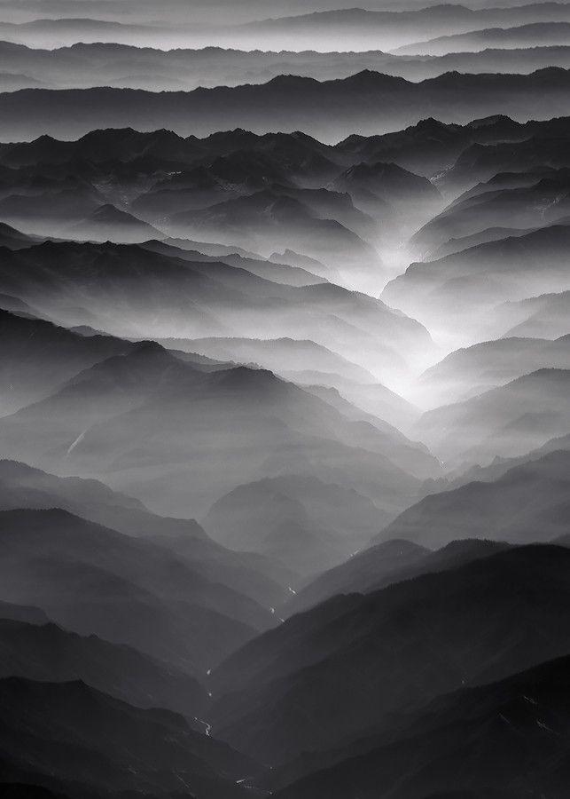 Misty landscape photography