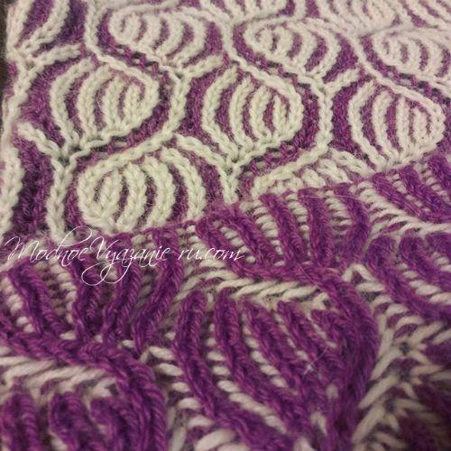 Узоры спицами в технике бриош - Модное вязание
