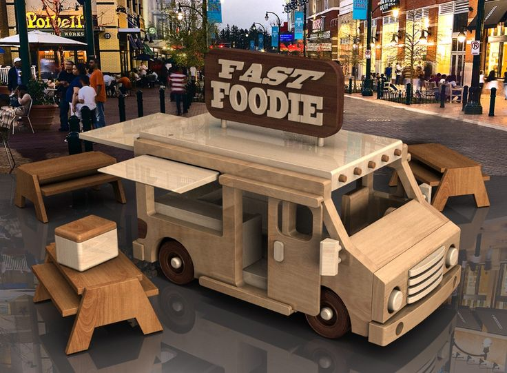Handmade Wooden Toy Truck Prototype, Fast Foodie Food Truck, Truck #odinstoyfactoy #tallahassee #florida #handmade #handcrafted #woodentoy #toys #trucks #foodtruck #food #playset