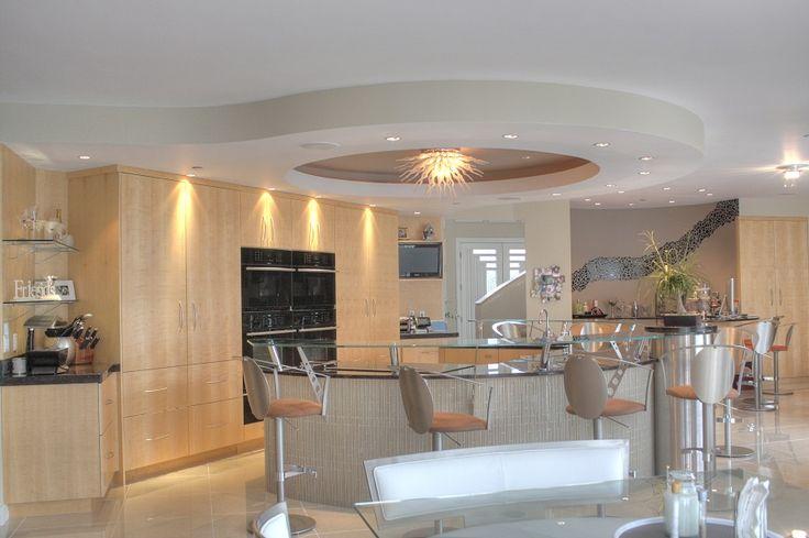Large Kitchens Natural Wood Kitchen Granite Countertops