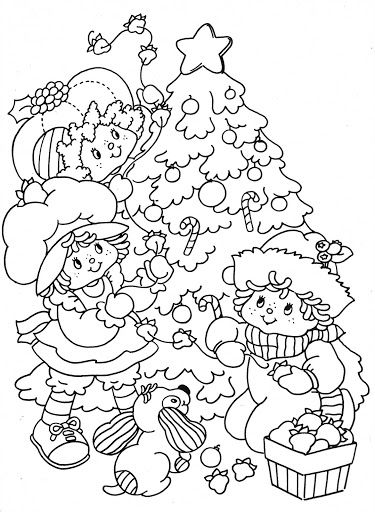 10 images about coloring sheets on pinterest coloring for Strawberry shortcake christmas coloring pages