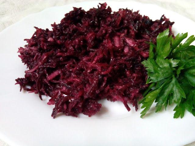 magiczna kuchnia Kasi: Surówka z fioletowej marchwi