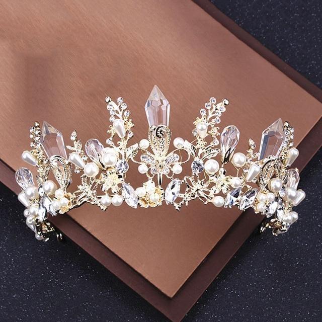 Fashion Fairy Princess Crown Hair Band Crystal Headband Wedding Party Headdress
