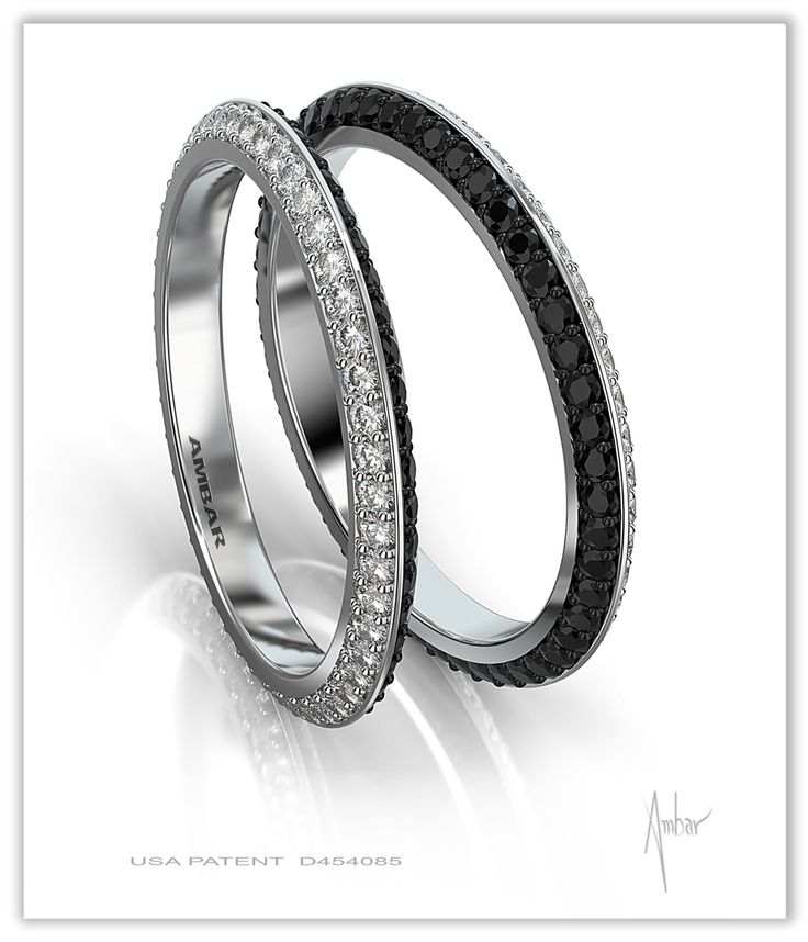 "The Black and White Diamond Eternity Ring by Bez Adlar features patented ""knife edge"" design and is exclusive to Maurice Badler Fine Jewelry (Courtesy Maurice Badler Fine Jewelry)"