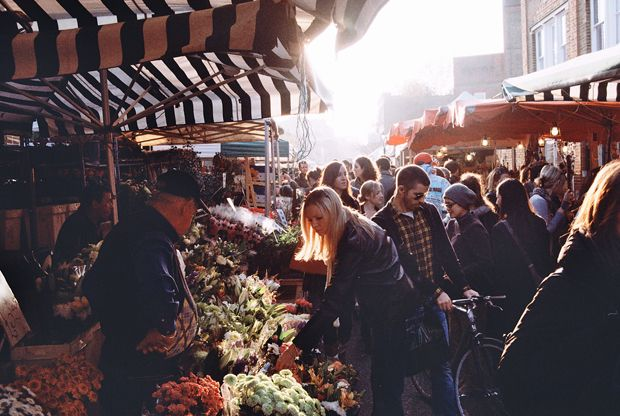 Columbia Flower Market - The PERFECT sunday activity followed by a stroll around Spitalfields.