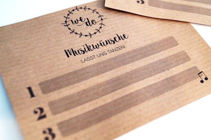Então sorgt ihr para Stimmung um eurer Hochzeit! – DIY Musikwunschkarte  – Evas Hochzeit