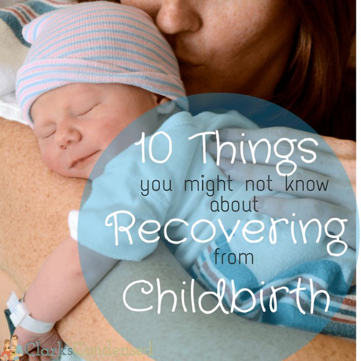 Giving birth is an exciting event in any women's life - but it's good to be prepared! Here are 15 thing you might not know about child birth recovery.