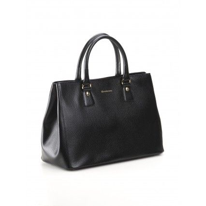 BLUE BLACK LEATHER TOTE #BAG #lautrechose #style #fashion #accessories #Christmas #gift