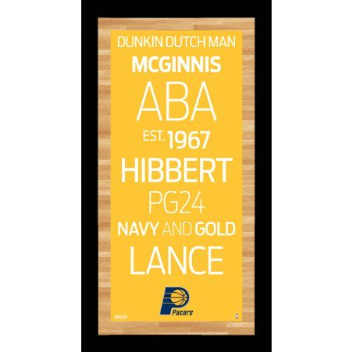 NBA Indiana Pacers Framed 95x19 Subway Sign Wall Art Photo *** See this great product.