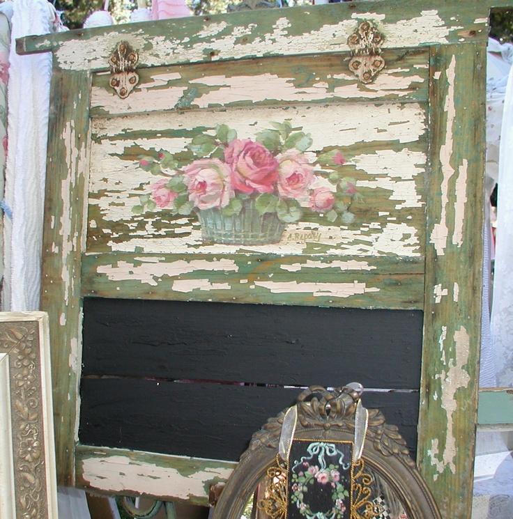 old door chalkboard...c.repasy roses