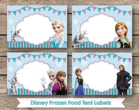 Disney Frozen Food Labels  Set of 8  Instant by RedAppleStudio