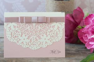DIY Wedding Invitation ideas and supplies from Imagine DIY.Laser cut thank you cards. Blank laser cut thank you. DIY wedding stationery supplies.