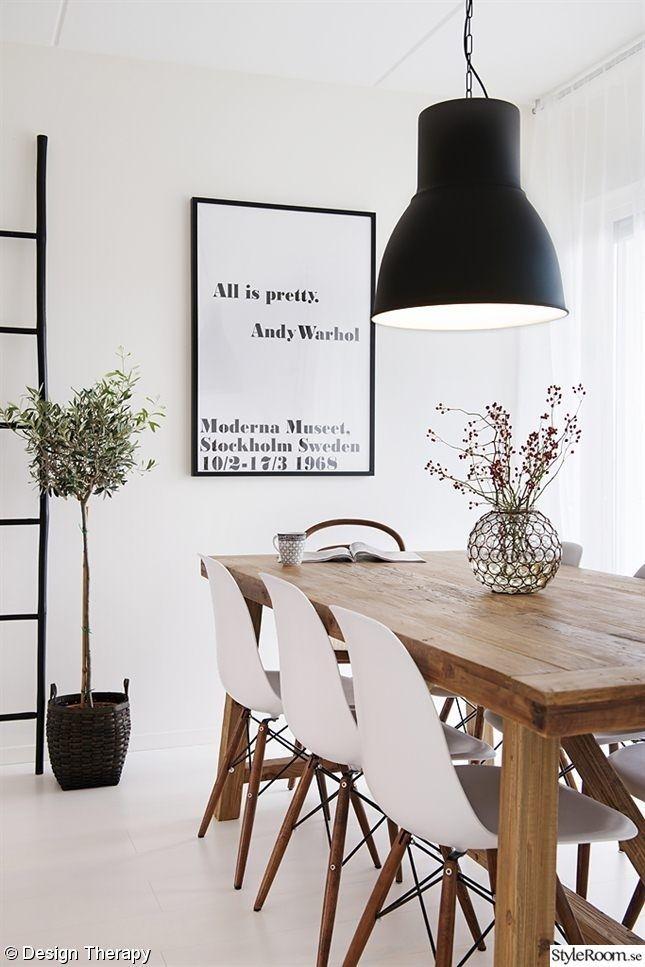 ♥Zwarte lamp eettafel