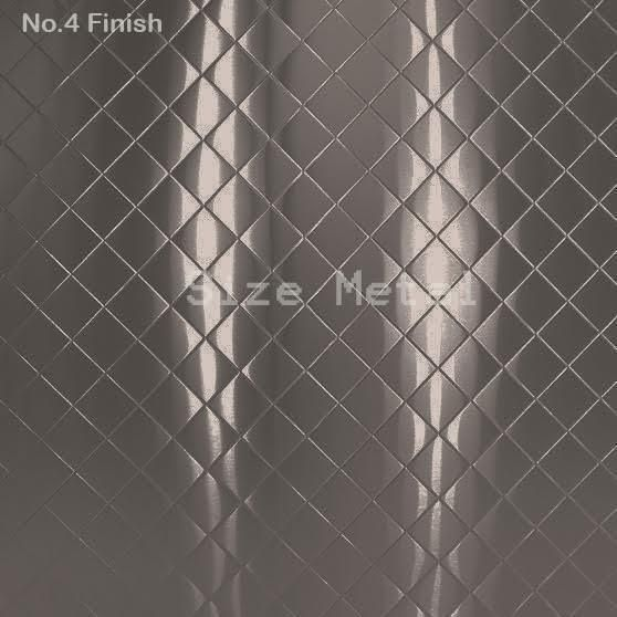 24Ga x 4' x 10' Quilted 430 Stainless Steel Sheet, #4 Finish | Business & Industrial, Manufacturing & Metalworking, Raw Materials | eBay!