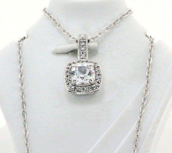 .925 Sterling Silver & 18k White Gold,  Genuine Diamond & White Sapphire Designer Authentic ColoreSG by LORENZO