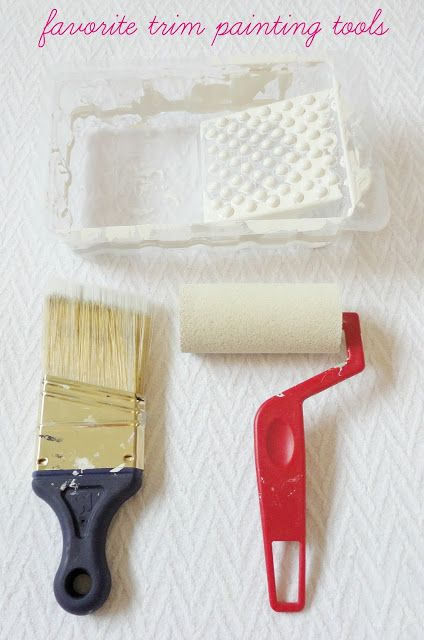 how to avoid brush strokes when painting trim